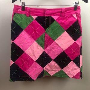 Vtg Lilly Pulitzer Patchwork Corduroy Skirt Size 6